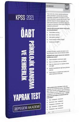 2021 KPSS ÖABT Psikolojik Danışma ve Rehberlik Yaprak Test Kolektif