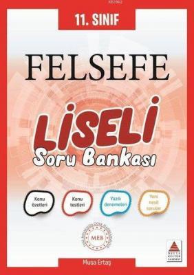 Delta Kültür Yayınları 11. Sınıf Felsefe Liseli Soru Bankası Delta Kül