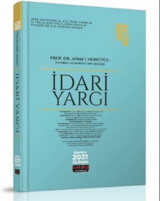 İdari Yargı Konu Anlatımı Ahmet Nohutçu