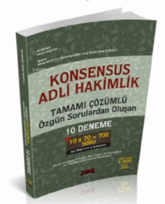 Konsensus Adli Hakimlik Tamamı Çözümlü 10 Deneme Savaş Yayınları Eylül