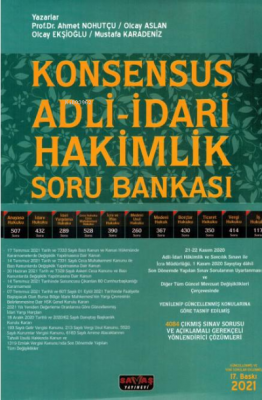 Konsensus Adli - İdari Hakimlik Soru Bankası 2021 Ahmet Nohutçu Olcay
