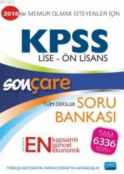 Sonçare KPSS Lise Ön Lisans Tüm Dersler Soru Bankası Kolektif
